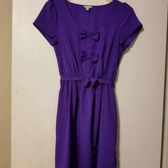 Forever 21 Dresses & Skirts - Forever 21 cute purple bow dress